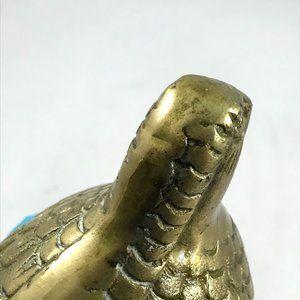 Vintage Accents - Vintage Brass Fancy Quail Grouse MidMod Game Bird